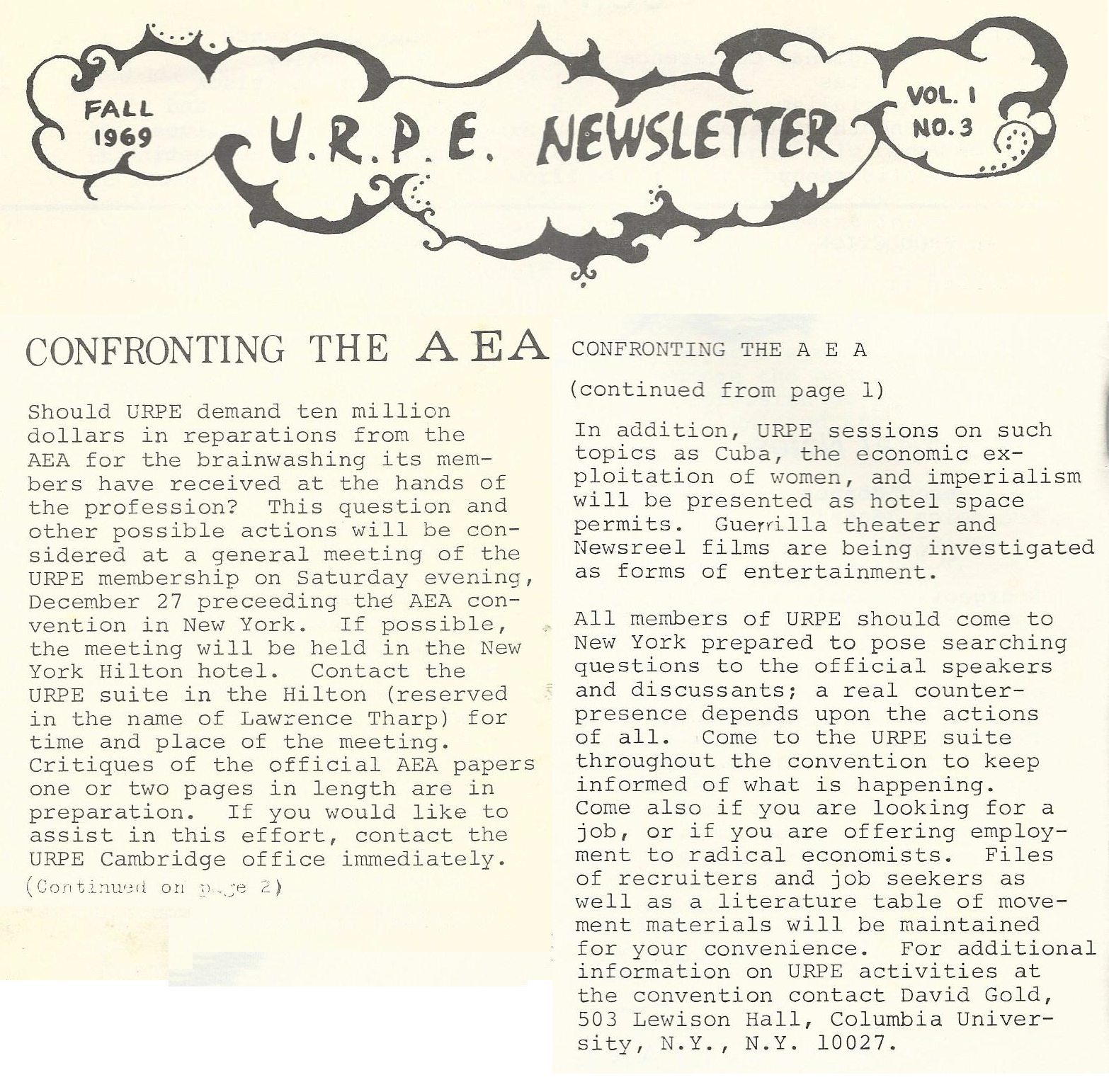 confronting the aea
