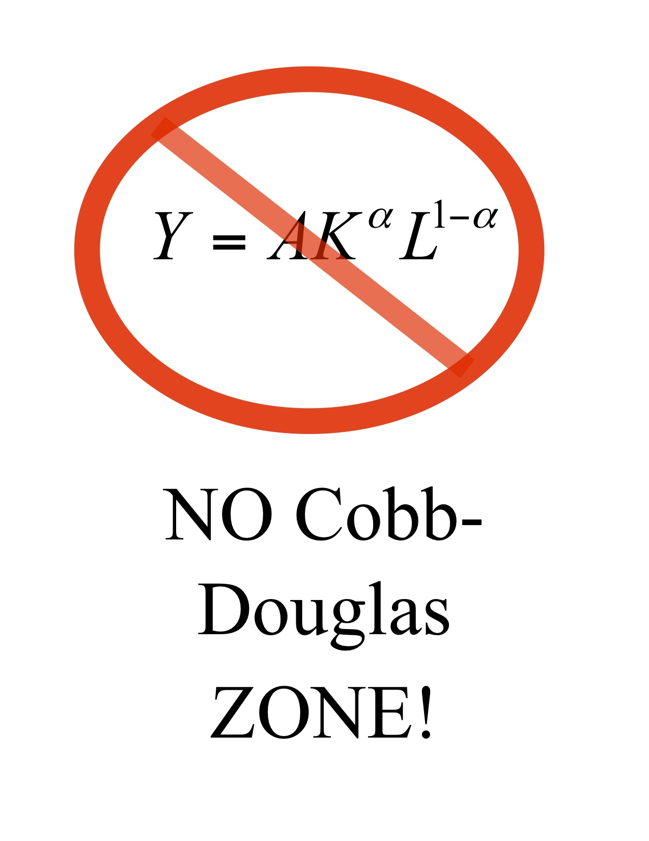 NO Cobb Douglas zone