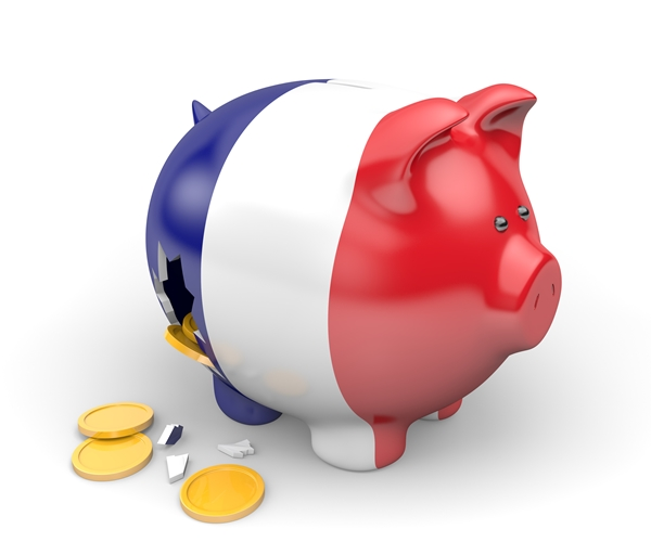 France economy and finance concept for national debt crisis